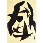 Sticker Vogelsilhouet Zwart Wit