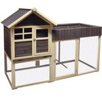 Chicken house Pixy Brown Natural Grey - Wood