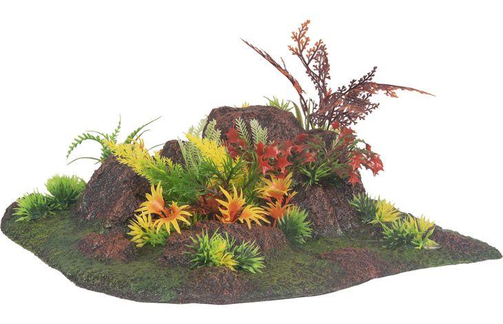 Flamingo AD RADHA ROCK + PLANT ANGLE 27,5x27,5x10CM
