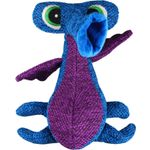 Kong® Toy Woozles M Blue Polyester