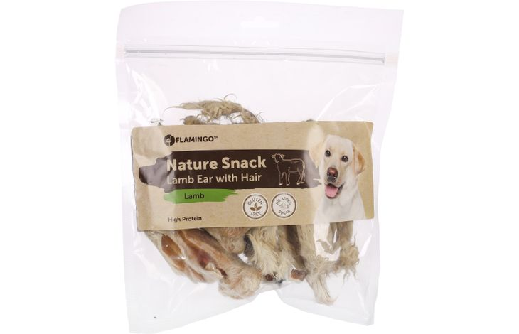 Flamingo NATURE SNACK LAMB EARS WITH FUR 200GR