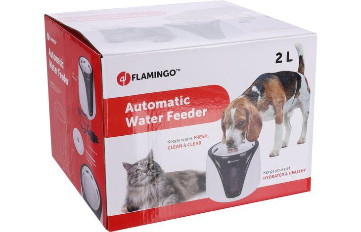 Flamingo Automatic water dispenser Adriana Black White - Plastic